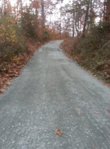 <h5>gravel driveway after</h5>