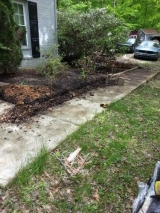 <h5>Border and Mulch Before</h5><p>Here we are starting on the garden bed. 																																		</p>