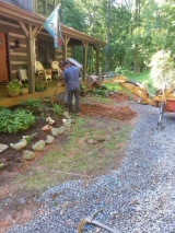 <h5>Paver Walkway Before</h5><p>Before the walkway was started, it was just dirt and grass. 																																																			</p>