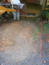 <h5>Paver Walkway Before</h5><p>Breaking ground																																		</p>
