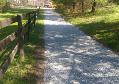 gravel driveway after
