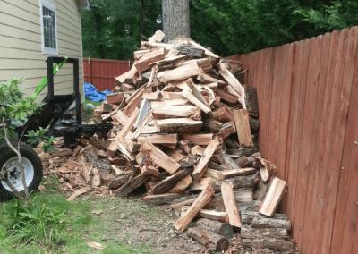 log splitting after