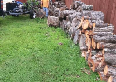 log splitting before