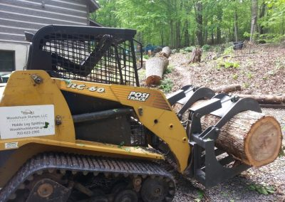 tree removal with skid steer