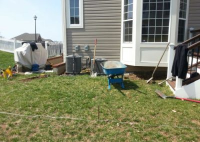 paver patio before