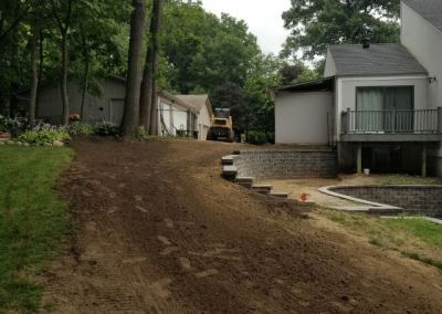 retaining wall ankeny after